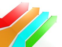 Color arrows Royalty Free Stock Photo