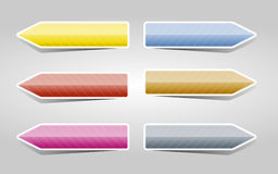 Color arrows set Stock Photography