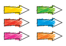 Color arrows set Royalty Free Stock Image