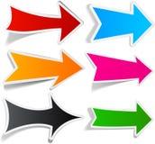 Color arrows sticker set. Stock Image