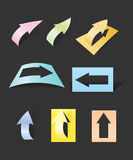 Color arrows stickers collection Stock Photos