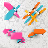 Color arrows on the textured background Royalty Free Stock Photos