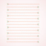 Color arrows with two different directions. On light red gradient background royalty free illustration