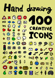 Color art icons collection Stock Photos