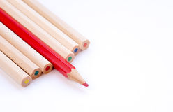Color art wooden pencils Royalty Free Stock Images