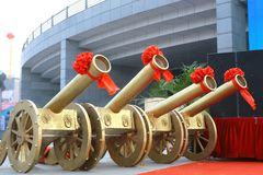 Color artillery in celebration Stock Photography