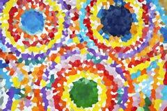 Color aumentado de la superficie de la roca stock de ilustración