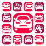 Color auto icons Royalty Free Stock Image