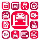 Color auto icons set Stock Image