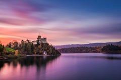 Autumn Czorsztyn castle landscape. Niedzica, Pieniny, Poland Royalty Free Stock Photo