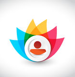 Color avatar icon flower illustration design Royalty Free Stock Images