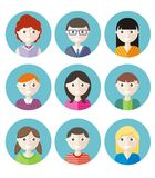 Color avatars teenagers Stock Photos