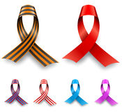 Color awareness ribbon set Stock Photography