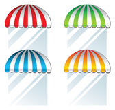 Color awning. Over white background stock illustration