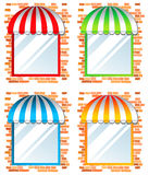 Color awning. 4 color awning -  illustration Royalty Free Stock Images