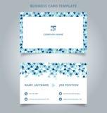 Color azul creativo de la plantilla de la tarjeta y de la tarjeta de presentación de visita moderno Fotografía de archivo libre de regalías