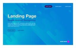 Color azul de aterrizaje del fondo del diseño simple de la página del composition_light dinámico geométrico de las formas libre illustration