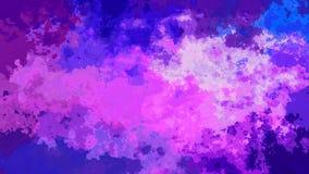 Color azul violeta púrpura manchado animado abstracto de la lavanda video inconsútil del lazo del fondo almacen de metraje de vídeo
