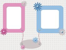 Color babies photo frame Royalty Free Stock Images