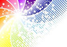 Color background. With white silhouettes of various shapes Stock Image
