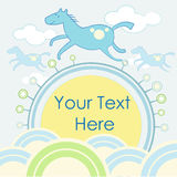 Color background. Colored background with a horse for invitations royalty free illustration