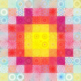 Color background with abstract mosaic Stock Photos