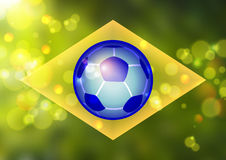 Color background in Brazil flag. Concept Stock Image