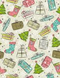 Color background with christmas present ,  Royalty Free Stock Image