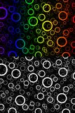 Color background circles. Abstract color circles on the black background Stock Photo