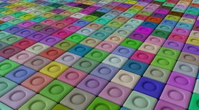 Color background. Colorful 3d background of cubes of different colors Stock Photos