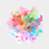 Color background with cube Royalty Free Stock Image
