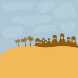 Color background in desert of bethlehem Royalty Free Stock Image