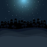 Color background in desert night of bethlehem Stock Photo