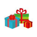 Color background with gift boxes Stock Images