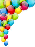 Balloon background. Color background with glossy balloon Stock Photography