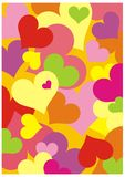 Color background with hearts Stock Photo