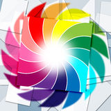 Color Background Indicates Spectrum Template And Sheet Stock Photos