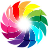 Color Background Means Whirl Whirling And Colourful Stock Photography