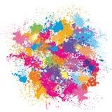 Color background of paint splashes. Color vector background of paint splashes Royalty Free Stock Photos