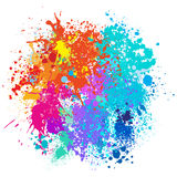 Color background of paint splashes. Vector illustration Stock Images