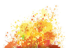 Color background of paint splashes. Color vector background of paint splashes in yellow tones Stock Photography