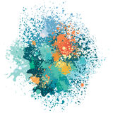 Color background of paint splashes Stock Photography