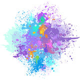 Color background of paint splashes. On white Stock Images