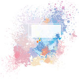 Color background of paint splashes Stock Photo