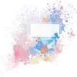 Color background of paint splashes. On white stock illustration
