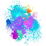 Color background of paint splashes. On white Royalty Free Stock Image
