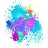 Color background of paint splashes. On white royalty free illustration