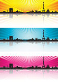 Color background Paris Skyline Silhouette Royalty Free Stock Photography