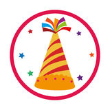 Color background with party hat Stock Image