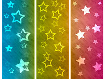 Color Background Shows Star Colourful And Spectrum Stock Photography